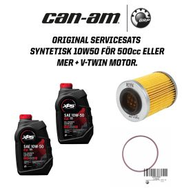Can-Am Original Servicesats syntetisk 10W50 - 500cc eller mer + v-twin