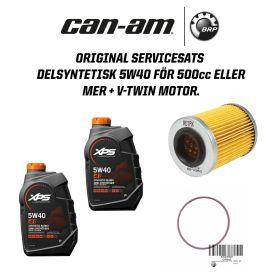 Can-Am Original Servicesats delsyntetisk 5W40 - 500cc eller mer + v-twin